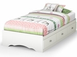 Tiara Collection Twin Mates Bed in White [3650212-FS-SS]