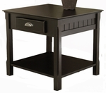 Timber End Table with One Drawer and Shelf [20124-FS-WWT]