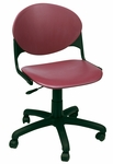 TK2000 Series Polypropylene Height Adjustable Armless Task Chair with Casters [TK2000-IFK]