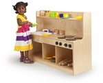 Toddler First Birch Laminate Sink & Stove in Natural UV Finish [WB1326-FS-WBR]