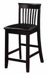 Torino Collection Craftsman 24''H Counter Stool - Black [01857BLK01U-FS-LIN]