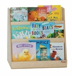 Tot Size Book Display with Three Book Display Shelves on Each Side - Assembled - 24''W x 12''D x 25''H [32100-WDD]
