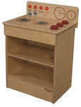 Tot Size Kitchen Range with Movable Knobs - Assembled - 17''W x 12''D x 20''H [20100-WDD]