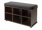 Townsend Bench with Black Cushion Seat [92633-FS-WWT]