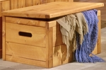 Rustic Style 34''W x 22''D Solid Pine Toy Chest - Cinnamon [3544783-FS-CHEL]