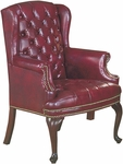 Quick Ship Traditional Series Tufted Full Size Wing Back Arm Chair [4074-FS-HPF]