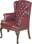 Quick Ship Traditional Series Tufted Wing Back Arm Chair [4073-FS-HPF]