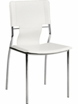 Trafico Dining Chair in White [404132-FS-ZUO]