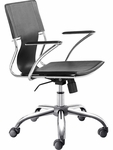 Trafico Mid-Back Chair in Black [205181-FS-ZUO]