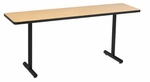 High Pressure Laminate Top Conference/Classroom Table with 1 - 1/4'' Thick Particleboard Core and T - Legs - 18''W x 60''D x 29''H [LT185D-AMTB]