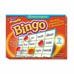 Trend Enterprises Homonyms Bingo Game - 3 -36 Players - 36 Cards/Mats [TEP6132-FS-SP]