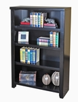kathy ireland Home™ Tribeca Loft Collection 32''W x 48''H Bookcase with 4 Shelves - Midnight Smoke Black [TL3248-FS-KIMF]