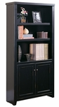 kathy ireland Home™ Tribeca Loft Collection 36''W x 70''H Bookcase with Lower Doors - Midnight Smoke Black [TL3670D-FS-KIMF]