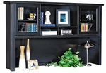 kathy ireland Home™ Tribeca Loft Collection 68.25''W x 43''H Hutch with Sliding Glass Doors - Midnight Smoke Black [TL682-FS-KIMF]