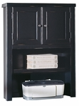 kathy ireland Home™ Tribeca Loft Collection 41''W x 12.75''H Hutch with Doors - Midnight Smoke Black [TL312-FS-KIMF]