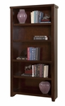 kathy ireland Home™ Tribeca Loft Collection 36''W x 70''H Open Bookcase - Burnt Umber Cherry [TLC3670-FS-KIMF]