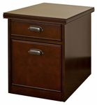 kathy ireland Home™ Tribeca Loft Collection 17''W x 22.25''H Rolling File - Burnt Umber Cherry [TLC202-FS-KIMF]