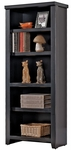 kathy ireland Home™ Tribeca Loft Collection 24.75''W x 61''H Small Bookcase - Midnight Smoke Black [TL600-FS-KIMF]