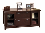 kathy ireland Home™ Tribeca Loft Collection 68.25''W x 29''H Storage Credenza - Burnt Umber Cherry [TLC687-FS-KIMF]