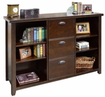 kathy ireland Home™ Tribeca Loft Collection 59.25''W x 40.75''H Three Drawer File or Bookcase - Burnt Umber Cherry [TLC504-FS-KIMF]