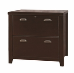 kathy ireland Home™ Tribeca Loft Collection 30''W x 29''H Two Drawer Lateral File - Burnt Umber Cherry [TLC450-FS-KIMF]
