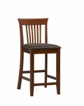 Triena Collection 24''H Craftsman Bar Stool [01857DKCHY-01-KD-U-FS-LIN]