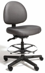 Triton Large Back Mid-Height Drafting Chair with 350 lb. Capacity - 4 Way Control [TRLM4-FS-CRA]