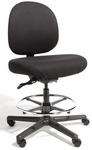 Triton Max Large Back Mid-Height Drafting Chair with 500 lb. Capacity - 4 Way Control [TMLM4-FS-CRA]