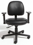 Triton Plus Medium Back Desk Height Chair with 350 lb. Capacity - 4 Way Control [TPMD4-FS-CRA]