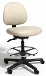 Triton Plus Medium Back Mid-Height Drafting Chair with 350 lb. Capacity - 4 Way Control [TPMM4-FS-CRA]