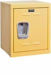 Trophy Yellow Kids Mini Locker Unassembled - 15''W x 15''D x 24''H [HKL1515-24-1TY-HAL]