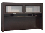 Tuxedo L-Shaped Computer Desk Hutch - Mocha Cherry [WC21831-FS-BHF]