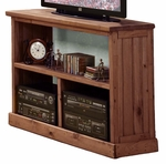 Rustic Style 43''W x 16''D Solid Pine TV Stand - Mahogany Stain [31700-FS-CHEL]
