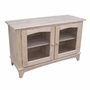 Butcher block top solid parawood 48 39 39 w x 30 39 39 h tv stand for Block tv stand