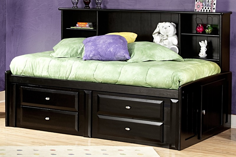 rustic style solid pine bed with 4 door storage twin black cherry by chelsea home furniture bizchaircom