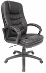 Twin-Cushion Bonded Leather Executive Chair - Black [60-5811-FS-COM]