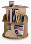 Two Level Birch Laminate Carousel Book Stand [WB0502R-FS-WBR]