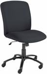 Uber™ Big and Tall High Back 27'' W x 30.25'' D x 40.75'' H Adjustable Height Armless Chair - Black [3490BL-FS-SAF]