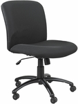 Uber™ Big and Tall Mid Back 27'' W x 30.25'' D x 36.5'' H Adjustable Height Armless Management Chair - Black [3491BL-FS-SAF]