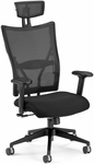 Talisto Executive High-Back Fabric and Mesh Chair with Headrest -Black [590-F-BLACK-FS-MFO]