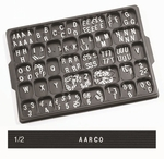 Universal Single Tab .5'' Changeable Helvetica Style Typeface Letters - 165 Characters per Set [HF-50-AA]