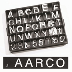 Universal Single Tab 2'' Changeable Helvetica Style Typeface Letters - 320 Characters per Set [HFD2-0-AA]
