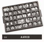 Universal Single Tab .75'' Changeable Helvetica Style Typeface Letters - 330 Characters per Set [HFD-75-AA]
