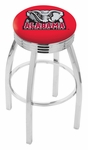 University of Alabama 25'' Chrome Finish Swivel Backless Counter Height Stool with 2.5'' Ribbed Accent Ring [L8C3C25AL-ELE-FS-HOB]