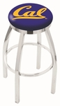 University of California Berkeley 25'' Chrome Finish Swivel Backless Counter Height Stool with Accent Ring [L8C2C25CAL-UN-FS-HOB]