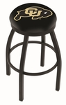 University of Colorado 25'' Black Wrinkle Finish Swivel Backless Counter Height Stool with Accent Ring [L8B2B25COLOUN-FS-HOB]
