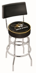 University of Missouri 25'' Chrome Finish Swivel Counter Height Stool with Double Ring Base [L7C425MIZZOU-FS-HOB]