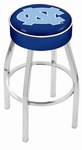 University of North Carolina 25'' Chrome Finish Swivel Backless Counter Height Stool with 4'' Thick Seat [L8C125NORCAR-FS-HOB]