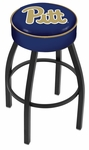 University of Pittsburgh 25'' Black Wrinkle Finish Swivel Backless Counter Height Stool with 4'' Thick Seat [L8B125PITTSB-FS-HOB]