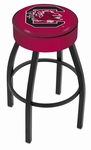 University of South Carolina 25'' Black Wrinkle Finish Swivel Backless Counter Height Stool with 4'' Thick Seat [L8B125SOUCAR-FS-HOB]
